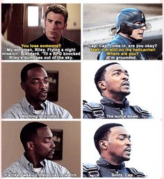 Well I didn't catch that the first time around. Poor Sam | Captain America The Winter Soldier quotes