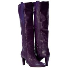 Abigail Above the Knee Slip-On Boots Purple from PaoloShoes.com