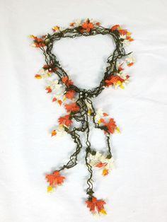 Needle Lace Necklace Unique Crochet Necklace Turkish by Nakkashe, $30.00