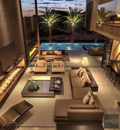 Image in House rooms collection by Samantha Aguilar Luxury Homes Dream Houses, Dream House Interior, Dream Home Design, Modern House Design, Mansion Interior, Modern House Facades, Luxury Homes Interior, Interior Modern, Villa Design