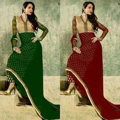 Malaika Arora Khan Georgette Kurti Cut Style Suit  Product Info : 4 colours Red colour Black colour Green colour Royal blue colour Fabric georgette top embroidery work Inner & Bottom : Santoon Bottom embroidery work 2/50 mtr Duppata Narzlin  Price : 1500 INR Only ! #Booknow  World Wide Shipping Available !  PayPal / WU Accepted  C O D Available In India ! Shipping Charges Extra  Stitching Service Available  To order / enquiry  Contact Us : 91 9054562754 ( WhatsApp Only )  #fashion #lookbook…