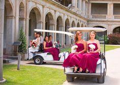 Bride. Bridesmaids. Mother. Weddington Way Dresses. Maroon. Werribee Mansion.