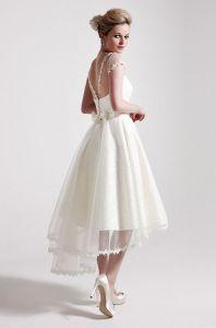 Sassi Holford tea length wedding dress