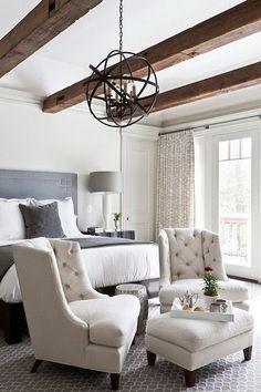 51 Cozy Grey Bedroom Designs With Upholstered/Tufted Headboard T Gray  Bedroom, Log Home