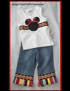 So CUTE!!! Custom Boutique Disney Vacation  MINNIE MICKEY by chloesmommy, $34.00