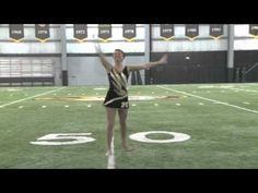 Cayla Troyer - Mizzou Twirler.  Really good and fun to watch!(: