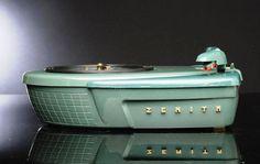 "vintage atomic era jet age ZENITH ""Disk Jockey"" phonograph"
