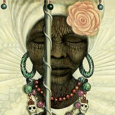 """I have been doing a lot of meditation and ancestral works..as I look at this photo, is an amazing ancestor in a way telling me to use her as an inspiration telling us to """"live the dream"""""""