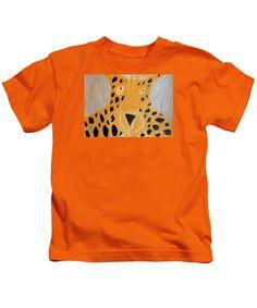 Patrick Francis Designer Kids Orange T-Shirt featuring the painting Cheetah by Patrick Francis