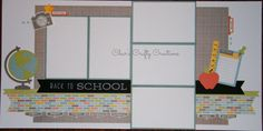 CTMH Zoe layout by Char's Crafty Creations. School themed using the Artistry and Artbooking Cricut collections.