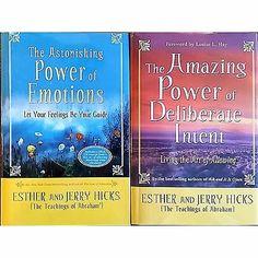 Astonishing Amazing Power Emotions Deliberate Intent Abraham Hicks Book Lot l127
