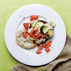 Roasted Mushrooms on White Bean Puree | CookingLight.com