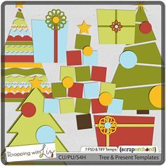 Tree and Present Templates by Scrapping with Liz
