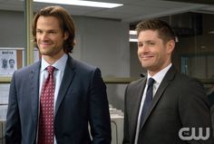 """Supernatural -- """"Plush"""" -- Image SN1107B_0101.jpg -- Pictured (L-R): Jared Padalecki as Sam and Jensen Ackles as Dean -- Photo: Liane Hentscher/The CW -- © 2015 The CW Network, LLC. All Rights Reserved.pn"""
