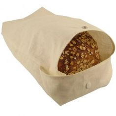 This bag will help prolong the edible iife of your bread. No more need for plastic bags! To keep the bread fresh and moist, we put it in one of these bags, and then store it in a large rectangular stainless steel airtight container.