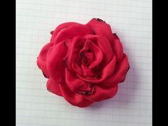 17 ROSA DE TELA, FLOR HECHA A MANO, ROSA DE FLAMENCA, ORIGAMI, FACIL - YouTube