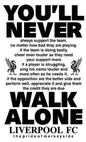 Kop Pledge --Should be observed by sports fans everywhere - Soccer N Whatnot - # Liverpool Fc, Gerrard Liverpool, Liverpool Football Club, Soccer Memes, Soccer Fans, This Is Anfield, Something In The Way, You'll Never Walk Alone, Best Football Team