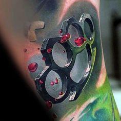 40 Brass Knuckle Tattoo Designs For Men