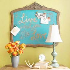 Better Homes & Gardens : great idea with a vintage mirror