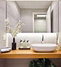 Lavabo clean e charmoso! Na Florana você encontra os melhores aromas e bandejas para deixar seu lavabo assim!