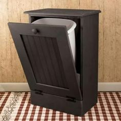 Much more attractive than the plastic trash can. Need to do this as a DIY with the kitchen sized trash can to keep the dog out of the trash! Garbage Can, Home And Deco, Home Organization, Organizing, My Dream Home, Home Projects, Home Kitchens, Diy Furniture, Diy Home Decor
