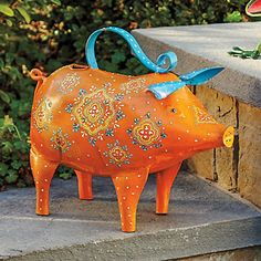 Whimsical Pig Watering Can