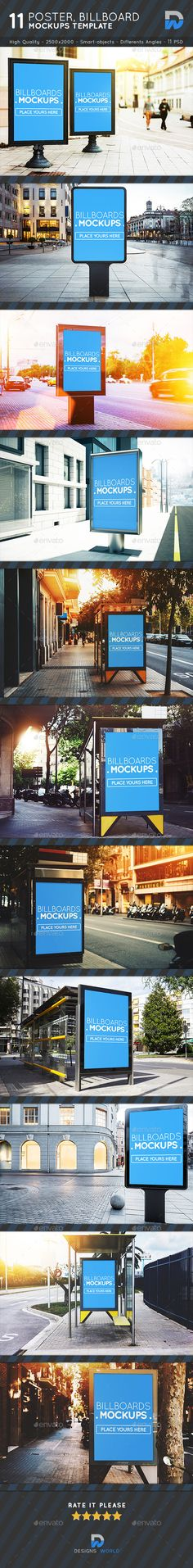 Posters, Billboards #Mock-ups Vol.6 - Posters Print Download here: https://graphicriver.net/item/posters-billboards-mockups-vol6/19584545?ref=alena994