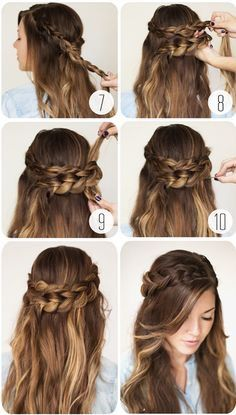 Quick And Easy Hairstyles For School : nice 9 Step By Step Hairstyles Perfect For School. Quick, Easy, Cute and Simple - Coiffure 03 Easy Hairstyles For Medium Hair, Step By Step Hairstyles, Easy Hairstyles For Long Hair, Teen Hairstyles, Pretty Hairstyles, Natural Hairstyles, Asymmetrical Hairstyles, Black Hairstyles, Hairstyles For Dances