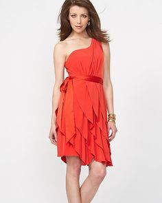 Tiered One Shoulder Cocktail Dress