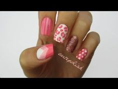 Nail polish has the ability to make a person feel more confident. Top 5 Valentine Nail Art Designs To Make You Swoon. Pretty Nail Colors, Pretty Nail Designs, Pretty Nail Art, Short Nail Designs, Cool Nail Art, Nail Art Designs, Pink Manicure, Pink Nail Art, Pink Nails