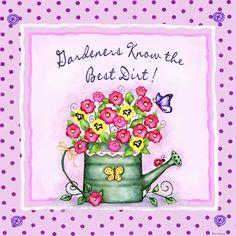 Blue butterfly: Barbara Ann Kenney Illustrations / Garden