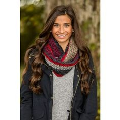 Reddress // Shades Of Cool Infinity Scarf-Navy/Red - $20.00