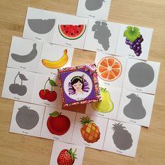 """""""PiaPolya Meyveleri Eşleştirerek Gölgesini Bulma Kartları"""" 18 ay ve 4 yaş arası çocuklarınız için uygundur. A3"""