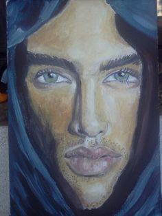 Tuareg egg tempera by Keka