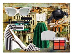"""Promenade italienne"" by marinovalix on Polyvore featuring moda, Boohoo, Chicwish, Dita, Valextra, J.Crew, Pomellato e MAC Cosmetics"