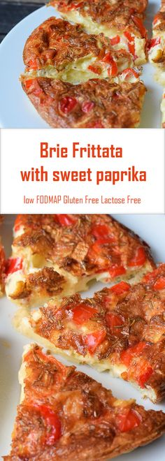 A simple oven-bake brie frittata with paprika!