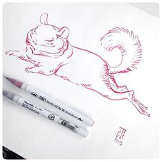 Posted by jawcooper : Sexy Rupert. Chinchilla seduction. A delightful sketch-n-breakfast with the wonderful @dbuerli / @headweststudio at our favorite morning spot: @sjcoffeeshop ! #JAWCooper #zigcleancolor #chinchillaseduction #sunsetjunctioncoffeeshop