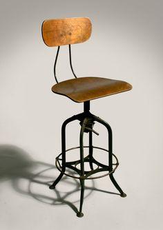 Industrial style kitchen island / bar stool