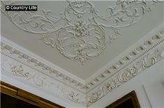 Detail of the ceiling in the White drawing room at Dumfries House built 1754-59 by the Adam brothers
