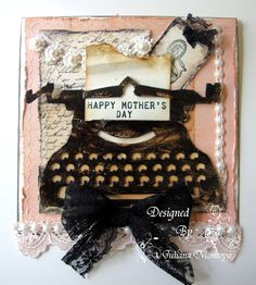 Vintage Typewriter Cards - using Tim Holtz vintage typewriter die