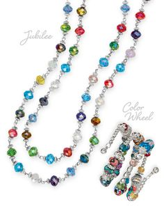 Premier Designs 2013 Spring Collection Jubilee Necklace and Color Wheel Bracelet - Get this set through my Facebook page at https://www.facebook.com/RobinSuesJewelryPremierDesigns?ref=hl.  I would love to become your Jewelry Lady!