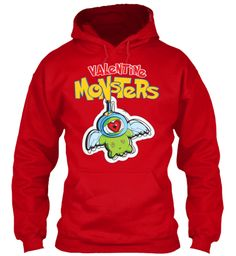 Valentine Monster ! Valentine Monster ! Red Sweatshirt Front