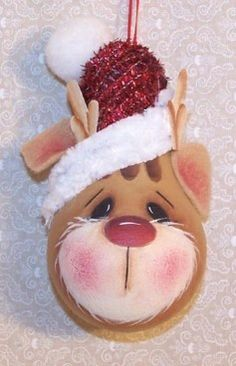 Rudolph Light bulb ornament.