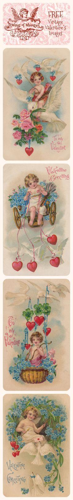 Wings of Whimsy: Vintage Valentine's Images - free for personal use #vintage #ephemera #valentine #printable #freebie