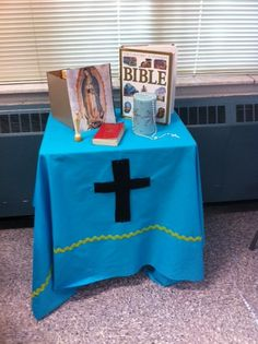 Children's prayer table