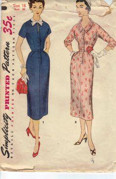 Vintage 1950's Women's Dress Sewing Pattern by AtomicRegeneration, $8.40