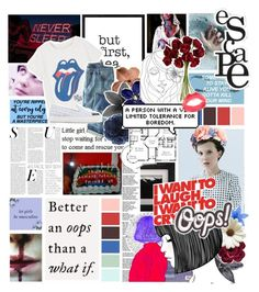 """""""// And I said // If crazy equals genius // If crazy equals genius // Then I'm a fücking arsonist // I'm a rocket scientist // BotWXP Round 2"""" by always-suspect-the-nargles ❤ liked on Polyvore featuring art and WXPRound2"""