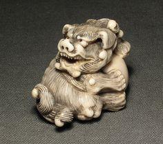 Title: Komainu, 18 - 19th century, 3.6 cm high, 4.8cm long
