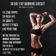 30 Day Quick Fat Burning Circuit | Workouts | Tribesports