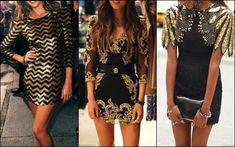 Little Black Dress con detalles dorados.